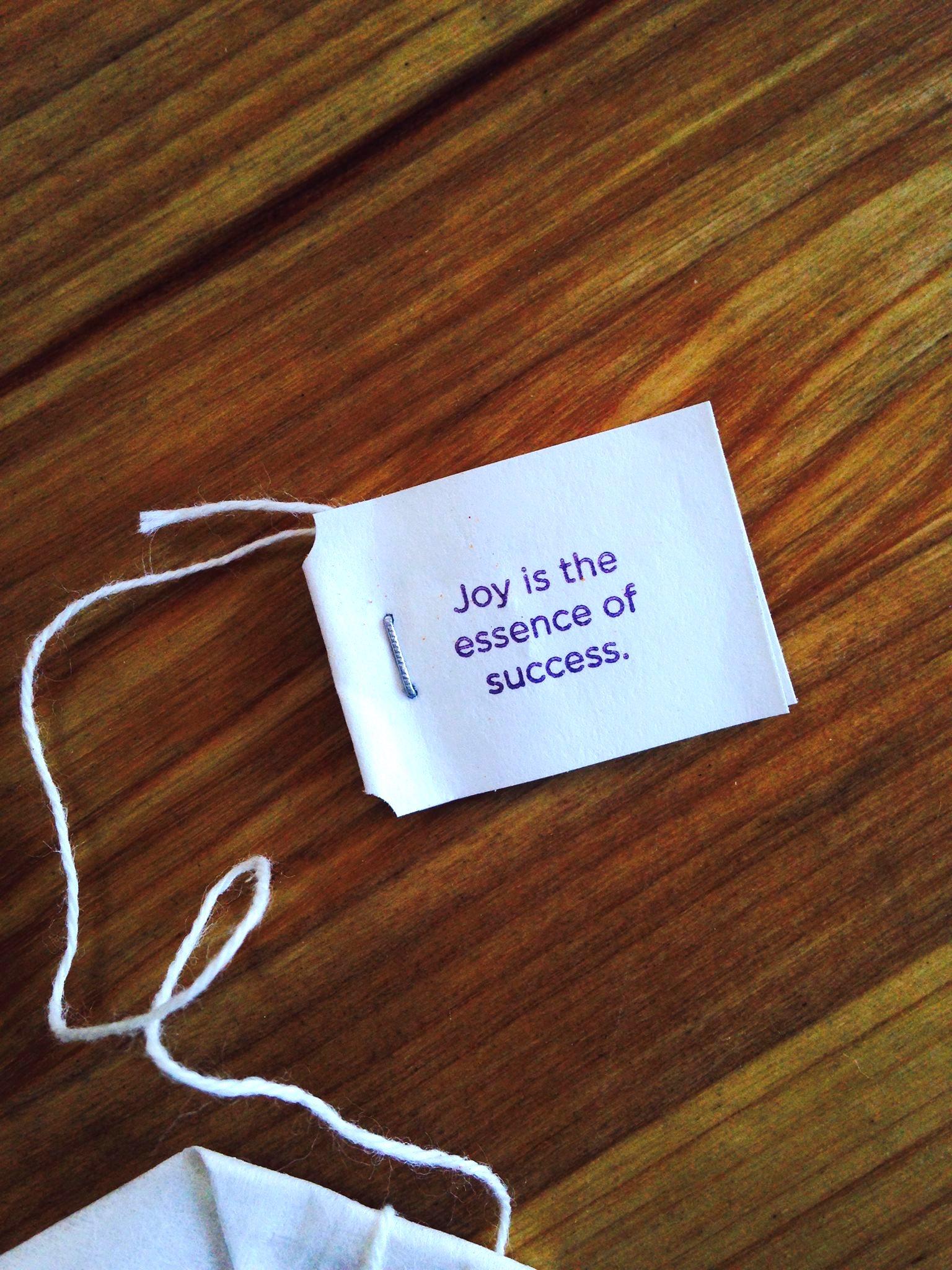 Joy is the Essence of Success